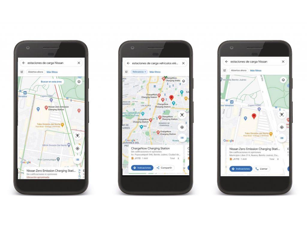 Google Maps recarga autos electricos