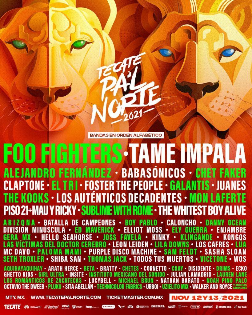 Cartel Tecate Pa´l Norte