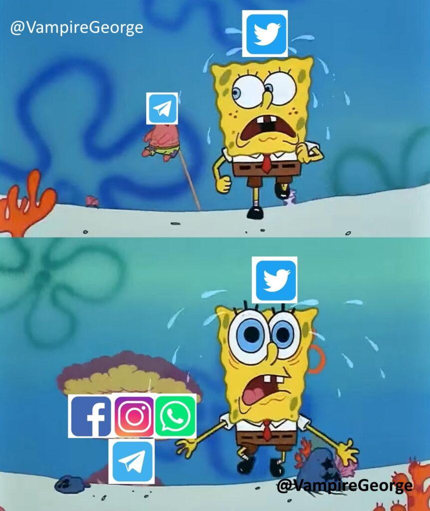 memes caída de redes
